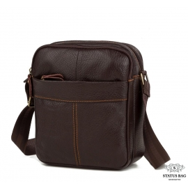 Мужская кожаная сумка через плечо маленькая Tiding Bag M38-1025C