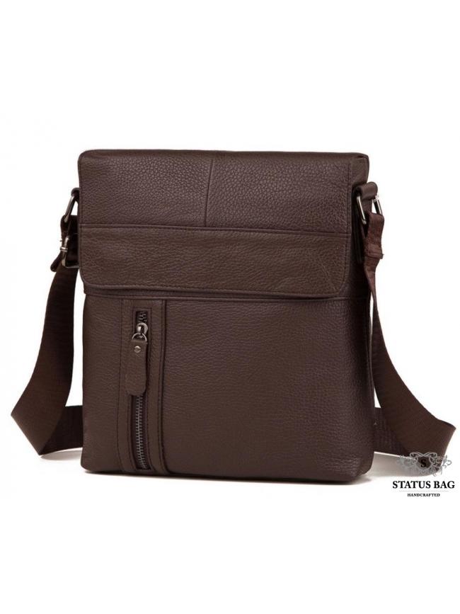 Мужская кожаная сумка серез плечо с клапаном Tiding Bag M38-1713C