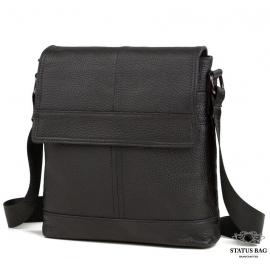 Наплечная мужская сумка кожаная с клапаном Tiding Bag M38-3822A