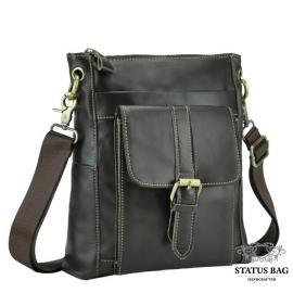 Мессенджер мужской кожаный через плечо шоколад Tiding Bag M38-5028DB