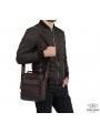 Мужской кожаный мессенджер через плечо коричневый Tiding Bag M38-5112C фото №6
