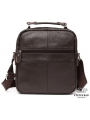 Мужской кожаный мессенджер через плечо коричневый Tiding Bag M38-5112C фото №4