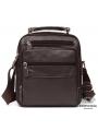 Мужской кожаный мессенджер через плечо коричневый Tiding Bag M38-5112C фото №2