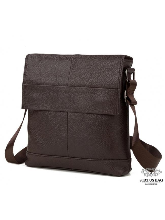 Мессенджер через плечо мужской кожаный Tiding Bag M38-8136C