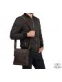 Мессенджер через плечо мужской кожаный Tiding Bag M38-8136C фото №6