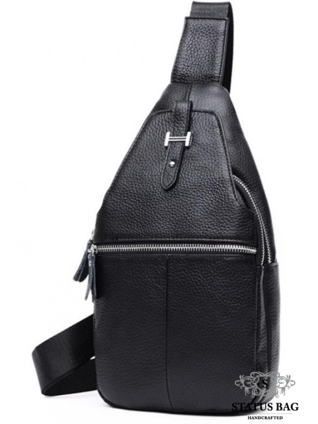 Мужской кожаный рюкзак на одну шлейку Tiding Bag M38-8151A