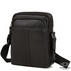 Мужская сумка-мессенджер через плечо натуральная кожа  Tiding Bag M47-21109-1A