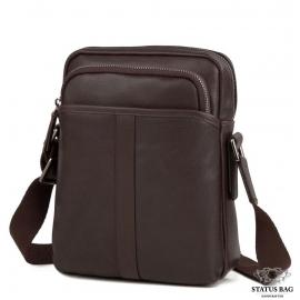Мужская кожаная сумка через плечо на молнии Tiding Bag M47-21109-1C
