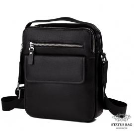 Мужская кожаная сумка через плечо с ручкой Tiding Bag M5609-1A