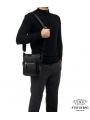 Сумка мужская через плечо из натуральной кожи Tiding Bag M5610A фото №2