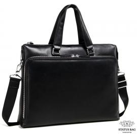 Деловая мужская кожаная сумка-портфель для документов Tiding Bag M664-4A
