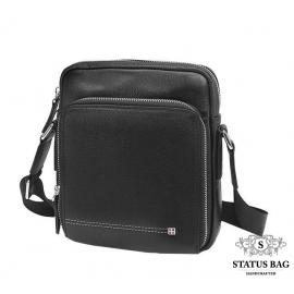 Мужская кожаная сумка на плечо маленькая Tiding Bag M911-1A