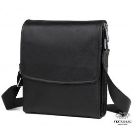 Каркасная мужская кожаная сумка через плечо Tiding Bag M9833A