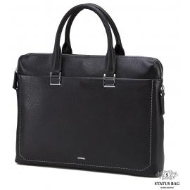 Деловая кожаная сумка под документы А4 и ноутбук Tiding Bag NM17-9069-5A