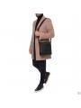 Элитная мужская кожаная сумка чрезе плечо с клапаном Blamont P7912021 фото №2