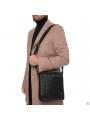 Элитная мужская кожаная сумка чрезе плечо с клапаном Blamont P7912021 фото №12