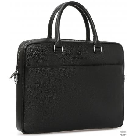 Классическая мужская сумка для документов черная Royal Bag RB-015A