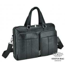 Модная мужская кожаная сумка для документов Royal Bag RB-018A