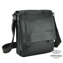 Мужская кожаная сумка через плечо с клапаном Royal Bag RB-020A
