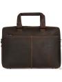 Стильная мужская кожаная сумка матовая Royal Bag RB001R