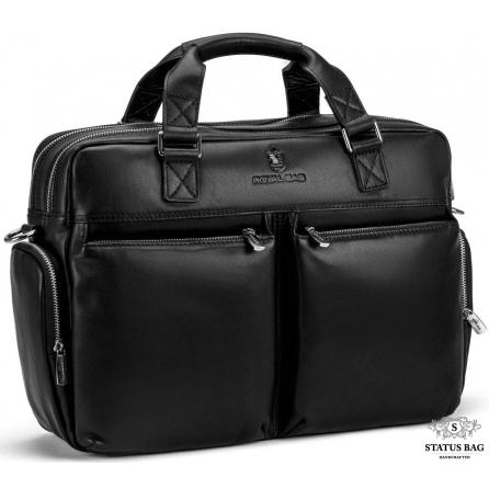 Большая вместительная кожаная сумка для командировок Royal Bag RB002A