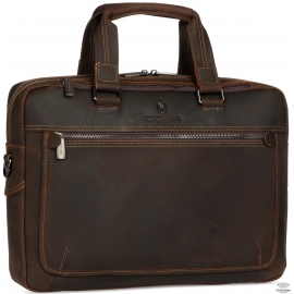 Сумка для ноутбука коричневая натуральная кожа Royal Bag RB005R