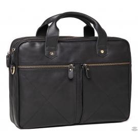 Мужская деловая кожаная сумка для ноутбука Royal Bag Rb012A