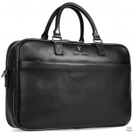 Вместительная деловая сумка-портфель из натуральной гладкой кожи Royal Bag RB026A