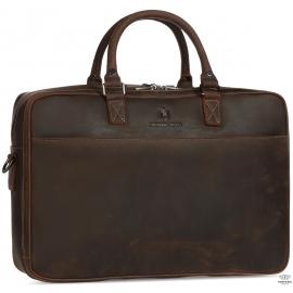 Вместительная кожаная сумка А4 Royal Bag RB026R