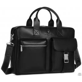 Мужская сумка из гладкой натуральной кожи Royal Bag RB058A