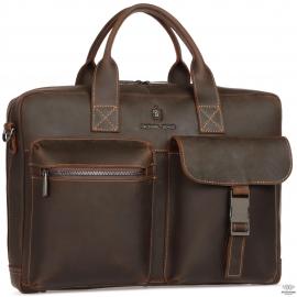 Вместительная сумка-портфель из натуральной кожи Royal Bag RB058R