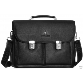 Портфель мужской кожаный классический с замком Royal Bag RB40041