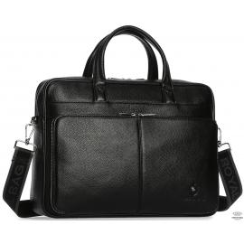 Мужская кожаная деловая сумка-портфель для ноутбука Royal Bag RB50101