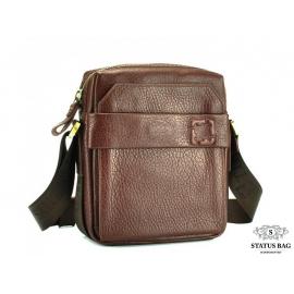 Каркасная мужская кожаная сумка через плечо Tifenis TF69856-3C