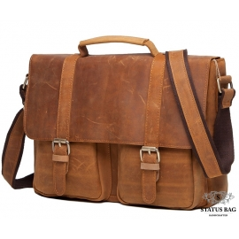 Мужской кожаный портфель TIDING BAG t0001