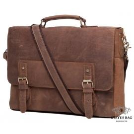 Мужской портфель из натуральной кожи в винтажном стиле Tiding Bag t0002