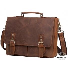 Мужской кожаный портфель TIDING BAG t0003