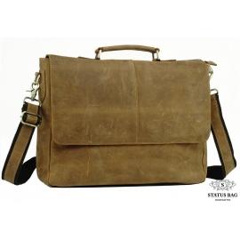 Мужской кожаный портфель TIDING BAG t0019