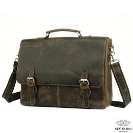 Мужской кожаный портфель TIDING BAG t0021