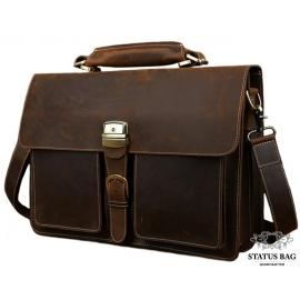 Мужской кожаный портфель TIDING BAG T10315