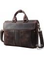 Сумка-портфель для ноутбука мужская кожаная 17 дюймов Tiding Bag t1096 фото №8