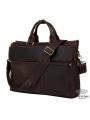 Сумка-портфель для ноутбука мужская кожаная 17 дюймов Tiding Bag t1096 фото №7