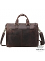 Сумка-портфель для ноутбука мужская кожаная 17 дюймов Tiding Bag t1096 фото №6