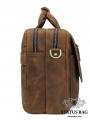 Вместительная мужская сумка-портфель винтажная кожа Tiding Bag t29523 фото №6