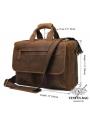 Вместительная мужская сумка-портфель винтажная кожа Tiding Bag t29523 фото №3
