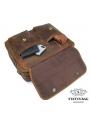 Вместительная мужская сумка-портфель винтажная кожа Tiding Bag t29523 фото №2